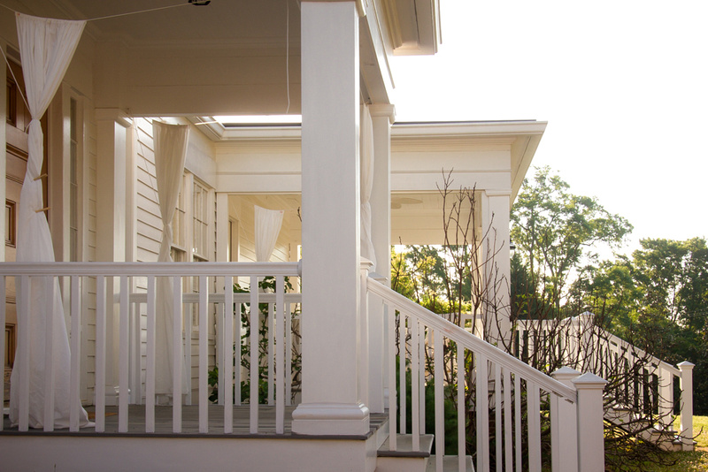 Beautiful White Front porches of Atlanta historic homes by Atlanta Photographer Kristin Boyer, K. Boyer Photography