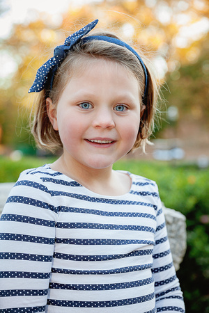 Outdoor fall family photos & child headshot photos at sunset in Piedmont Park