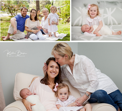 Images of mother and child for family photographs
