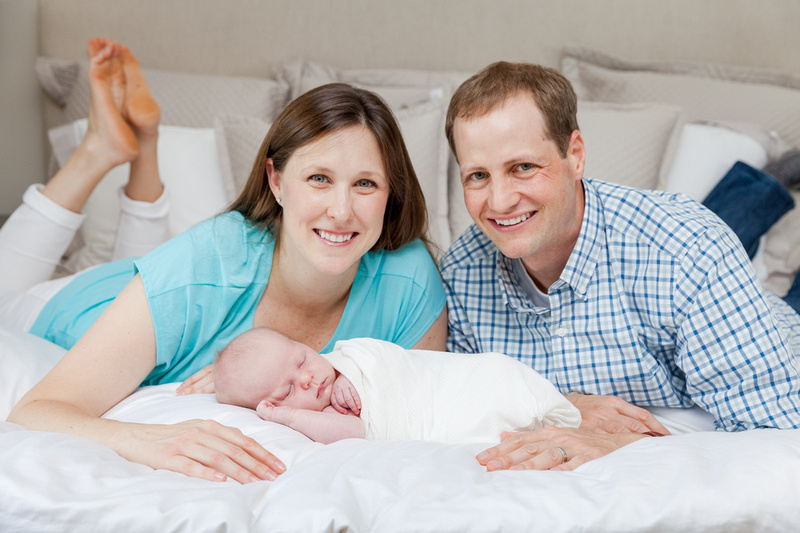Newborn Baby Photographer, Baby Boy and his parents