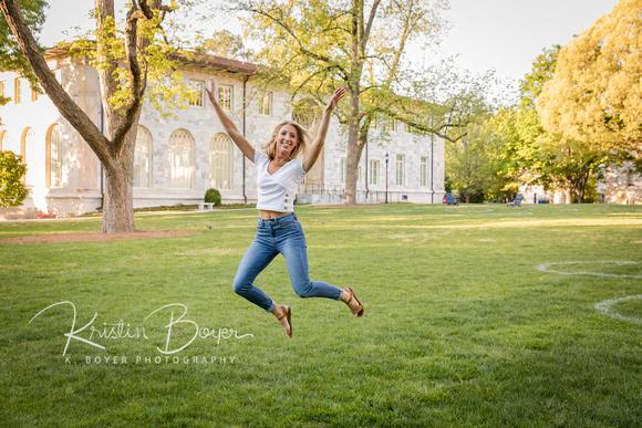 Outdoor photos on Emory University Campus for Graduating Senior, Senior Portraits at Emory University
