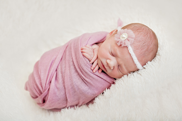 Edited image examples for before and after newborn baby shoot