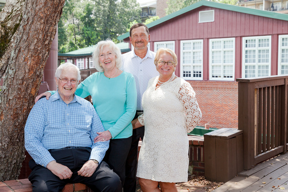 Family Photos at Roswell Mill for 4 generations of family members