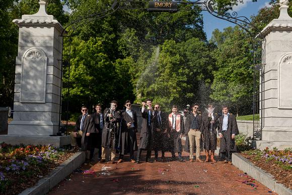 Senior Graduation Photos for Emory University Graduates, Outdoor Photos and Senior Portraits at Emory University, Emory University Senior Portrait Photographer, Senior Photos Emory Graduates, On Campus Senior Photos