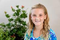 School Portraits Inside with outdoor plants