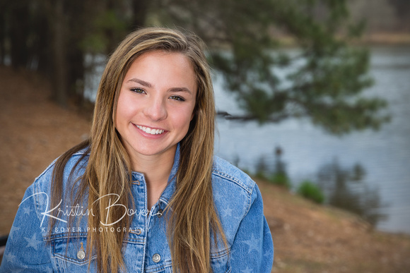 Outdoor Photos at Murphey Candler Park for Graduating Marist School Senior Girl