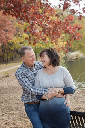 Fall family photos in a beautiful park in Brookhaven