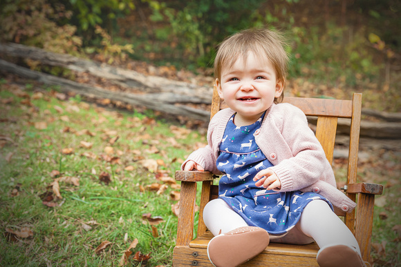 A beautiful fall day in Dunwoody for this toddlers photo shoot