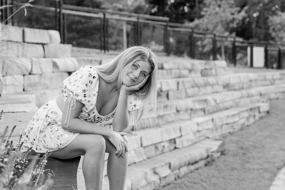 Outdoor senior portraits of a beautiful dancer /  young lady in Chamblee Georgia.