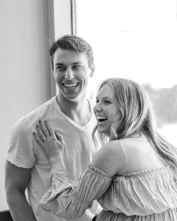 Black and White Portraits, Maternity & Engagement Portraits, Kristin Boyer