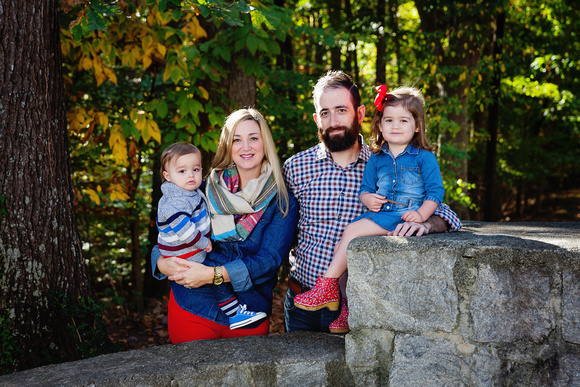 Fall Day and Family Portraits with Mom and Dad and 2 young children