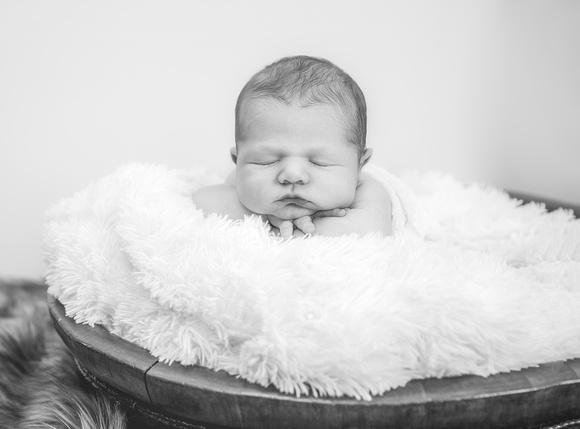 Studio Photos of newborn baby boy and his parents in Atlanta GA