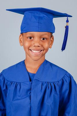 Spring Graduation Photos for Kindergarten Students in Atlanta, GA
