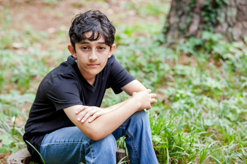 Outdoor Headshots for teenage actors at Murphey Candler Park,