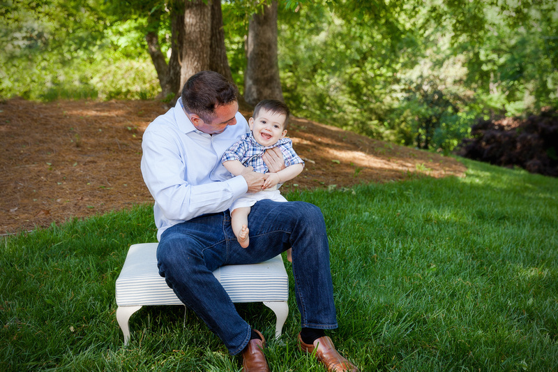 Photo Session for family of three and first birthday cake smash