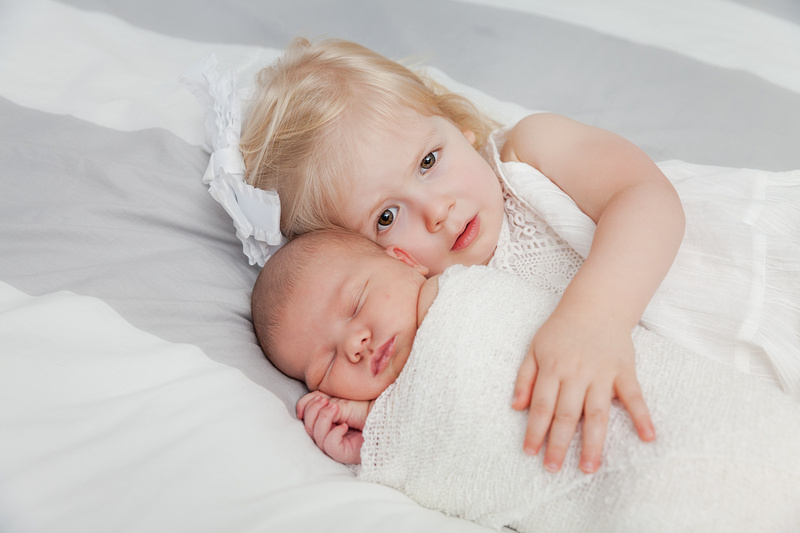 Newborn photos for a young family in their own home