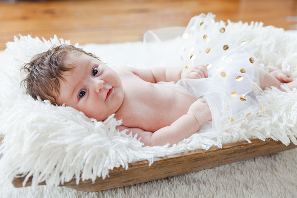 Newborn photos with 2 older siblings inside at Roswell Mill in Roswell GA,