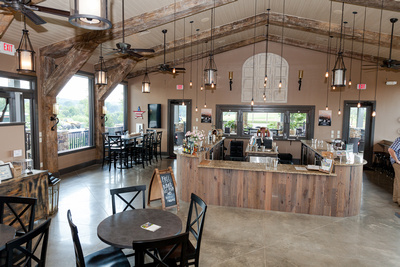 Photos of the North Georgia Vineyard's and Wineries, Wine Tasting Room at Kaya Vineyards,