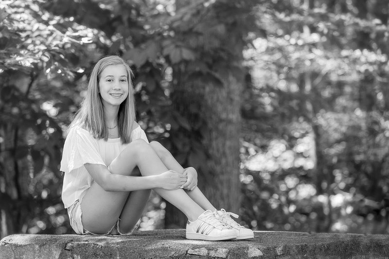 Outdoor photography for High School Teenage siblings during a mini session at Murphey Candler Park