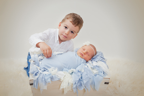 Newborn Portraits for a boy and his baby brother