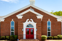 Exterior photos of Chamblee First United Methodist Church's new renovation completed in 2017.