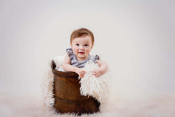 Studio Photos of a six month old baby girl