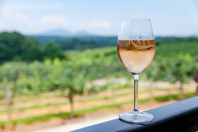 Food and wine photography in the north Georgia Mountains,