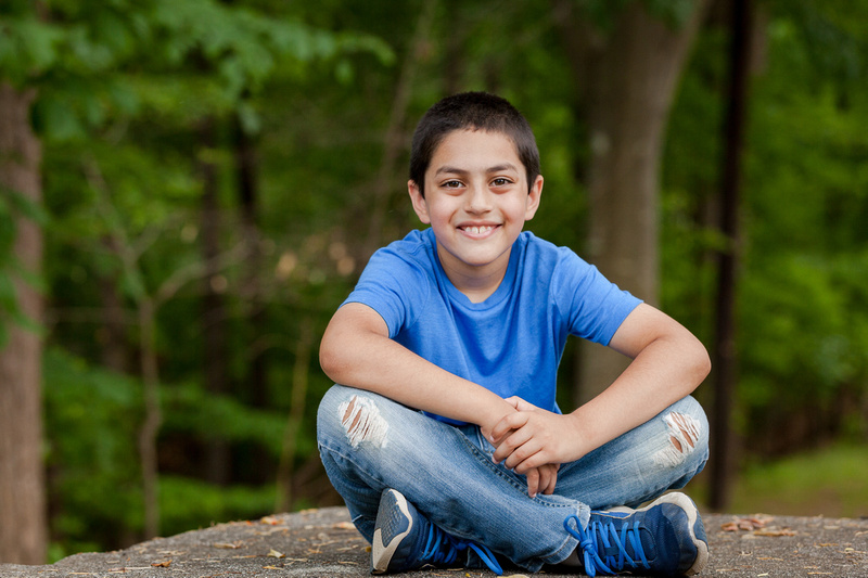 Outdoor Headshots for teenage actors at Murphey Candler Park,