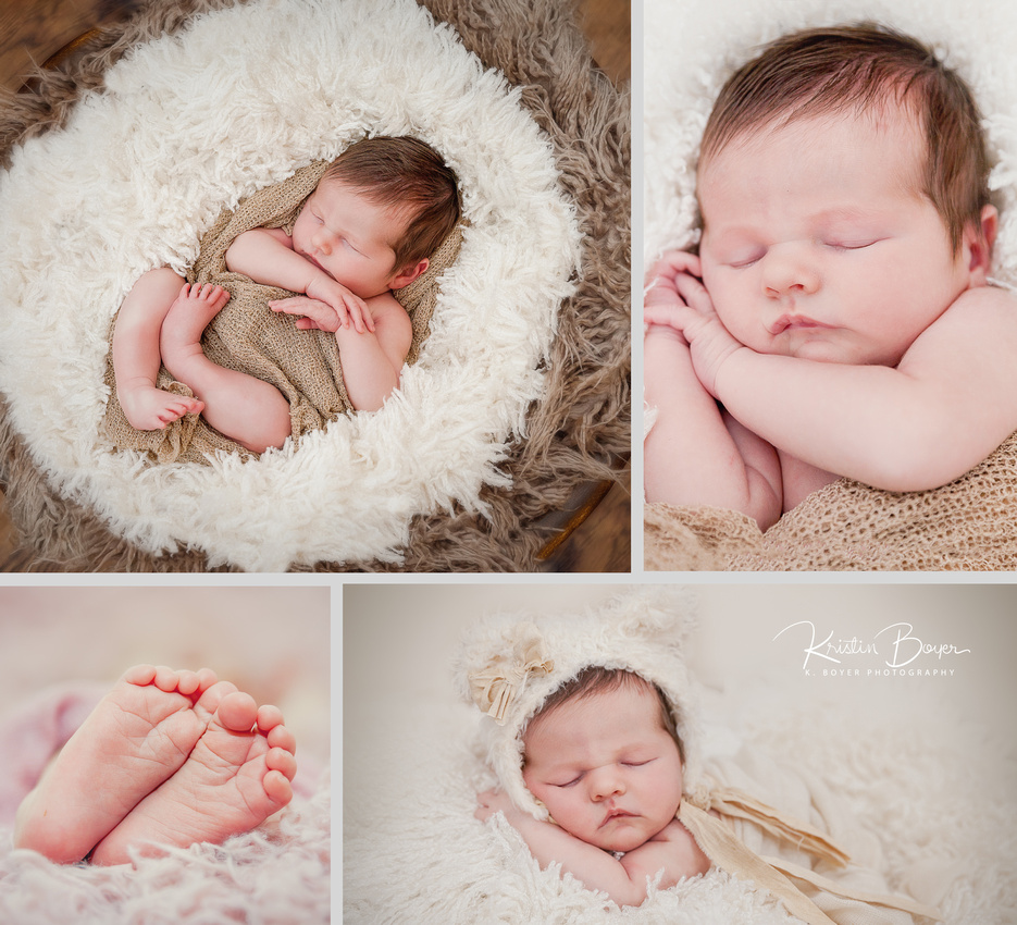 Newborn Baby Girl 10 days old photos with parents